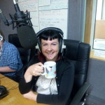 """At the Studio of Radio Phoenix's  """"Punk and Disorderly""""  show in Halifax.  On the show together  with Dave Hughes  and interviewed  by Rob Galloway."""